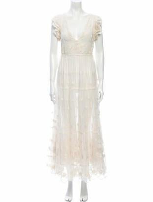 Ulla Johnson V-Neck Long Dress