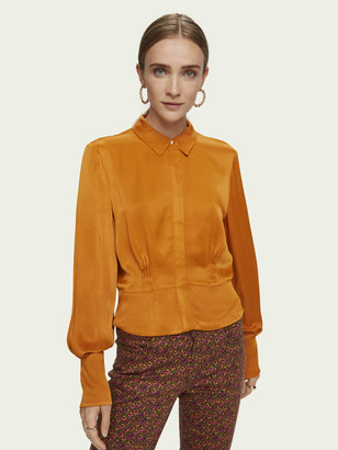 Scotch & Soda Long sleeve shirt with fitted waist | Women