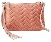 Charlotte Russe Velvet Combo Crossbody Bag