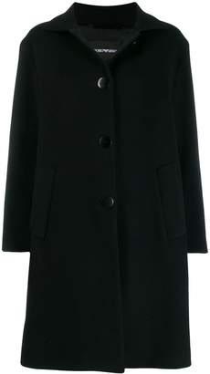 Emporio Armani Cappotto single breasted coat