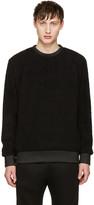 Helmut Lang Black Sherpa Sweater