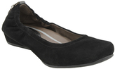 Earthies Black Suede Tolo Flat