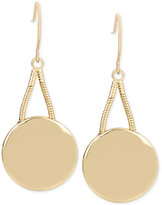 Kenneth Cole New York Gold-Tone Disc Drop Earrings