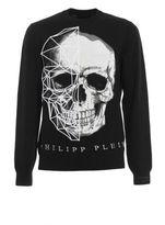 Philipp Plein Diamonds Embroidered Skull Sweater