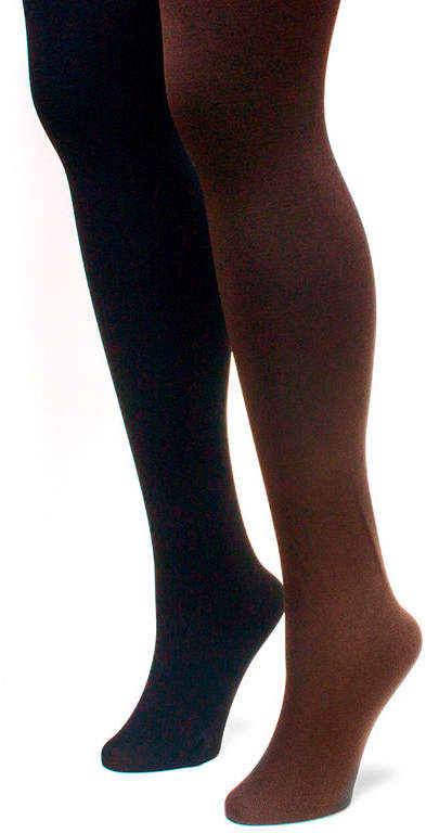 d01db6d8b351c3 Brown Opaque Tights - ShopStyle