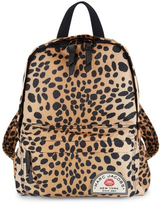 Marc Jacobs Medium Leopard-Print Nylon Backpack
