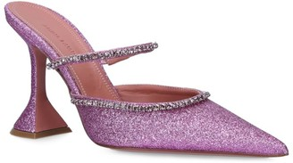Amina Muaddi Glitter Gilda Mules 95