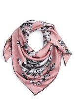 Burberry Women's Medallion Silk Square Scarf