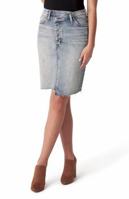 Silver Jeans Co. Highly Desirable Asymmetrical Denim Pencil Skirt
