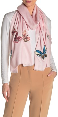 Valentino Silk Butterfly Beaded Stole