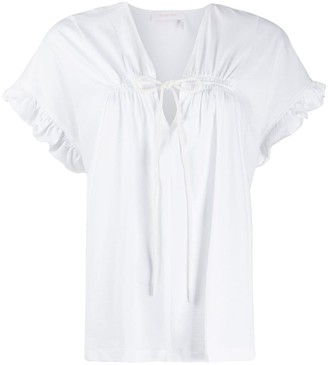 See by Chloe ruffled sleeve T-shirt