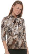 Dana Buchman Women's Cotton Blend Shirt