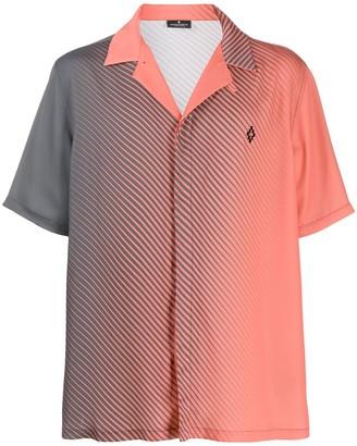 Marcelo Burlon County of Milan Striped Ombre Notched-Collar Shirt