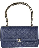 Chanel Leather Chain Shoulder Bag A91056