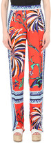 Emilio Pucci Wide-leg silk-satin trousers