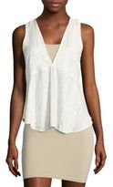 Free People Open-Back Embroidered Sleeveless Top