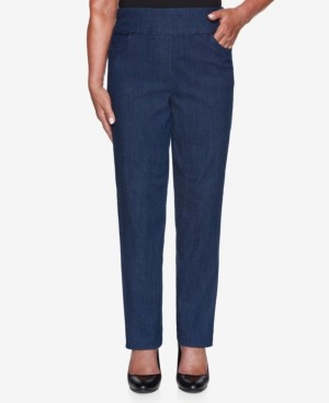Alfred Dunner Petite Denim Friendly Proportioned Medium Pants