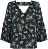 Biba Tokyo dragon pleat sleeve blouse