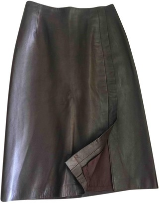 Jitrois Brown Leather Skirts