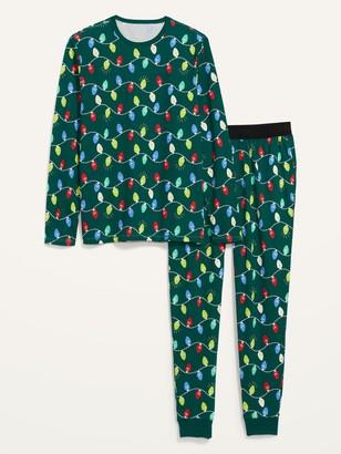 Old Navy Patterned Jersey Pajama Set for Men