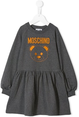 MOSCHINO BAMBINO Logo Print Sweat Dress