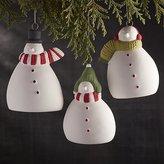 Crate & Barrel Snowman Christmas Ornaments