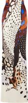 Roberto Cavalli Printed silk-satin maxi skirt