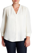 Susina Long Sleeve Refined Woven Blouse (Plus Size)