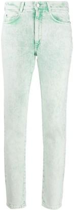 Stella McCartney Acid-Wash Cropped Skinny Jeans