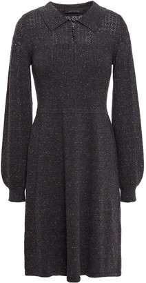 Marc Jacobs Donegal Paneled Cotton, Wool And Silk-blend Dress