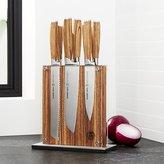 Crate & Barrel Schmidt Brothers ® 7-Piece Zebra Wood Knife Block Set