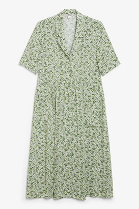 Monki Long button-up shirt dress