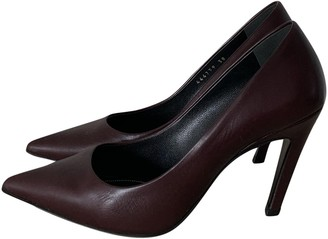 Balenciaga Burgundy Leather Heels