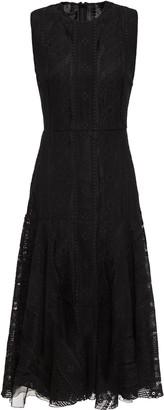 Giambattista Valli Flared Cotton-blend Lace Midi Dress