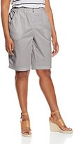 Briggs New York Women's Plus-Size Twill Skimmer Short with Knit Waistband