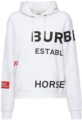 Burberry Logo Cotton Jersey Sweatshirt Hoodie