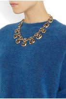 Oscar de la Renta Gold-plated Swarovski crystal necklace