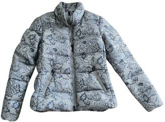 Moncler Classic Silver Coat for Women