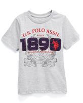 U.S. Polo Assn. Light Heather Gray '1890' Crewneck Tee - Toddler & Boys