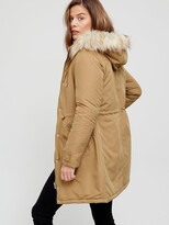 Thumbnail for your product : Very Ultimate Parka With Faux Fur Trim - Toffee