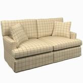 "Annie Selke Home Saybrook 72"" Recessed Arm Sofa Fabric: Adams Ticking Brick"