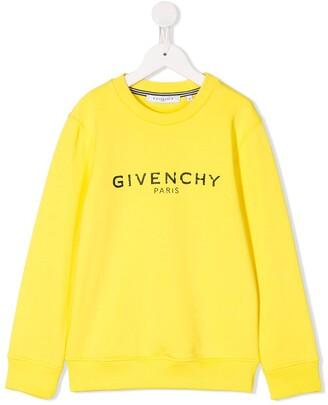 Givenchy Kids Logo Printed Long-Sleeve Sweatshirt