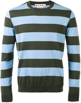 Marni striped crew neck jumper - men - Cotton - 46