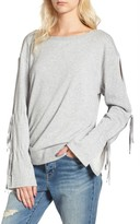 Hinge Women's Tie Sleeve Sweatshirt