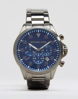 Michael Kors Gage Chronograph Watch In Stainless Steel MK8443