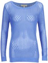MICHAEL Michael Kors Women's Knitted Crew Jumper Blue