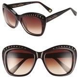 Oscar de la Renta Women's 54Mm Cat Eye Sunglasses - Black