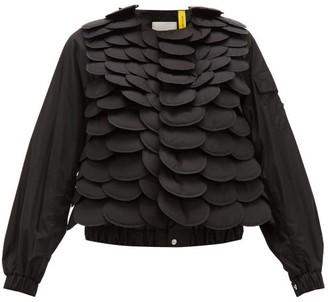 6 Moncler Noir Kei Ninomiya - Fish-scale Bomber Jacket - Black