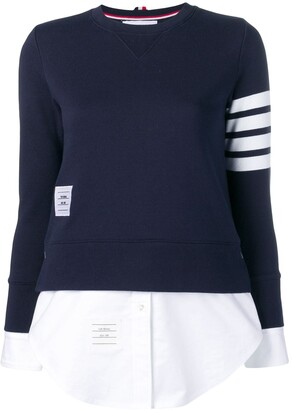 Thom Browne 4-Bar Loopback Jersey Sweatshirt