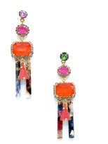 Elizabeth Cole Cadee Mixed-Cut Dangle Earrings